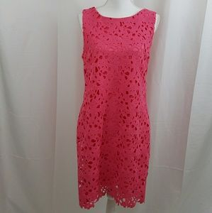 Jessica Simpson Pink Lace Dress Size 10